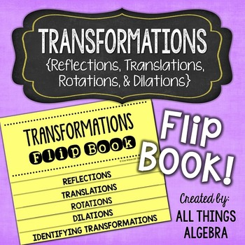 Transformations Flip Book