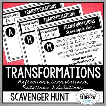 Transformations (Reflections, Translations, Rotations ...
