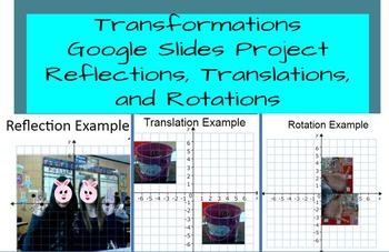 Transformations (Reflections, Translations,&Rotations) Project- Google Slides