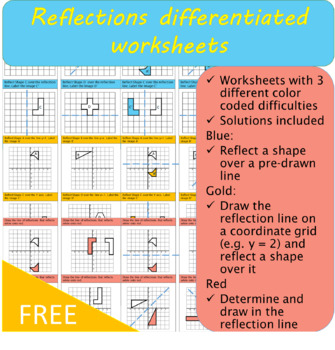transformations reflections worksheet - Reflections Worksheet