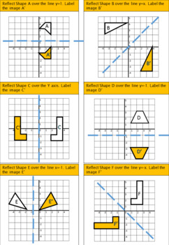Transformations - Reflections worksheet