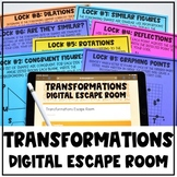 Transformations Review Digital Escape Room - Updated for D