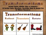 Transformations Rotate Reflect Translate Western Theme