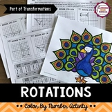 Transformations (Rotations) Color By Number Activity
