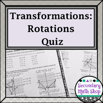 Composite Transformations Teaching Resources Teachers Pay Teachers