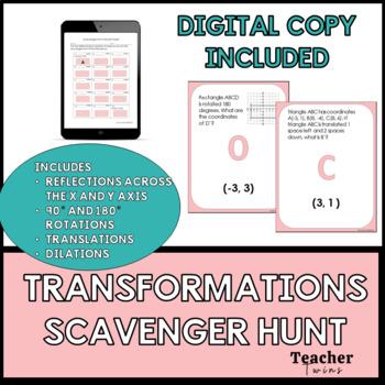Transformations Scavenger Hunt Common Core Standard 8 G A 3