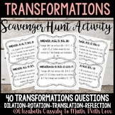 Transformations Scavenger Hunt Game-Transformations Activity
