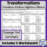 Transformations  - Scavenger Hunt Worksheets