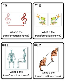 Transformations Scoot/Task Cards (Reflection, Rotation, Dilation, Translation)