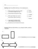 Transformations/ Similar or Congruent Quiz and/or Worksheet