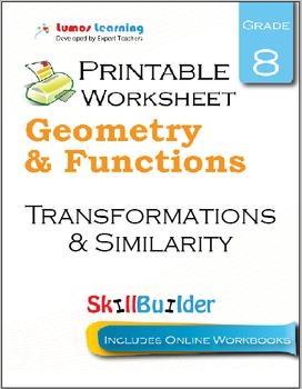 Transformations & Similarity Printable Worksheet, Grade 8
