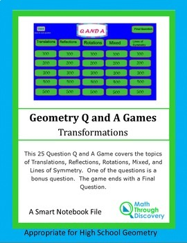 Geometry: Smartboard Q and A Game - Transformations