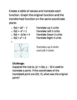 Transformations Station Activity