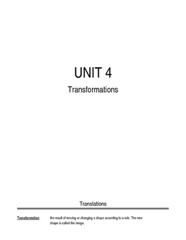 Transformations Student Notes