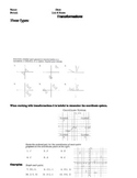 Transformations Student Notes page