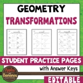 Transformations - Student Practice Pages