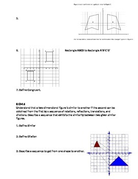 Transformations Study Guide 8th grade