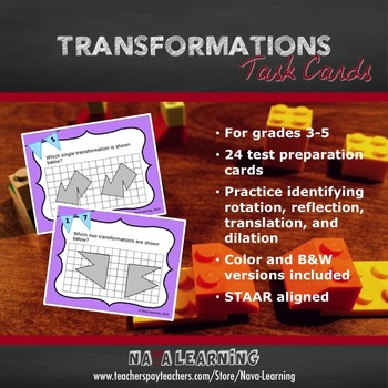 Transformations - Task Cards