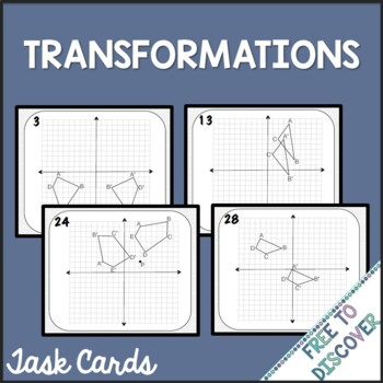 Transformations Activity - Task Cards