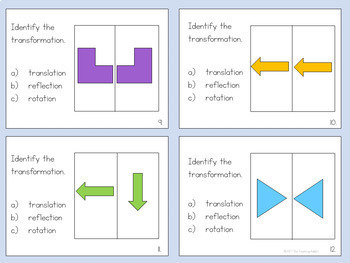 Transformations Task Cards