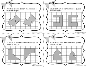 Transformations - Spanish Task Cards