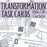 Transformations Task Cards with QR Codes