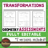 Transformations Tests - Geometry Editable Assessments