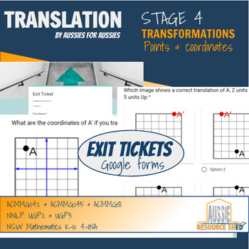 Transformations: Translations (Exit Tickets - Google Forms)