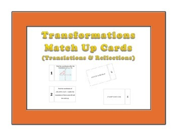 Transformations (Translations & Reflections) Match Up Cards