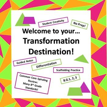 Transformations Translations Reflections Rotations Dilations BUNDLE