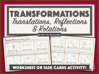 Transformations: Translations, Reflections and Rotations (Algebraic Rep) 8.10C