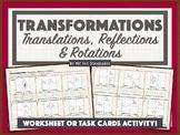 Transformations: Translations, Reflections & Rotations Activity (Algebraic Rep)