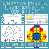 Transformations: Translations, Rotations, and Reflections Coloring Activity