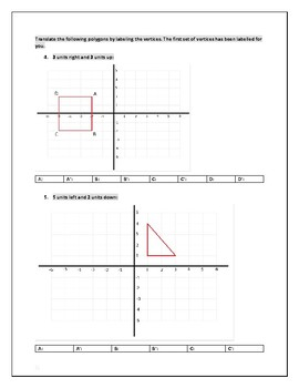 Study Guide Cartesian Transformations: Translations and Reflections
