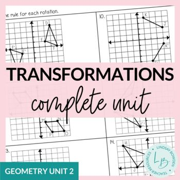 Transformations Unit Bundle-with Editable Test!!