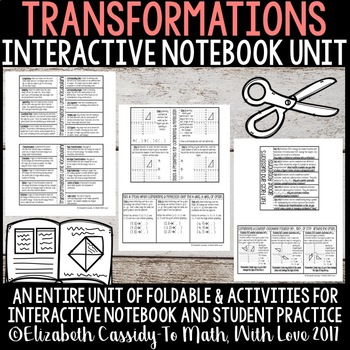Transformations Unit-Interactive Notebook-Full Unit Notes