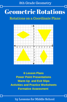 Geometry Transformations Unit - Reflections, Translations, and Rotations Bundle