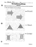 Transformations Unit Review Answer Key