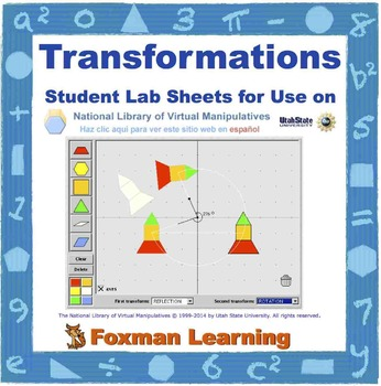 Transformations -- Virtual Manipulatives for Middle School Math Common Core