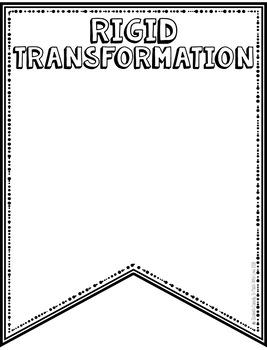 Transformations Vocabulary - DIY Pennant Banner
