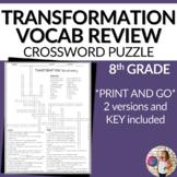 Transformations Vocabulary Math Crossword Puzzle