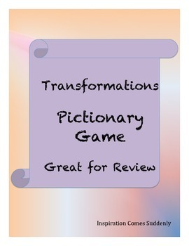 Transformations Vocabulary Pictionary Game