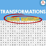 Transformations Word Search Activity