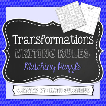Transformations Writing Rules Matching Puzzle