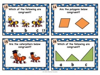 Transformations and Congruence Task Cards