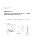 Transformations and Parent Function Notes