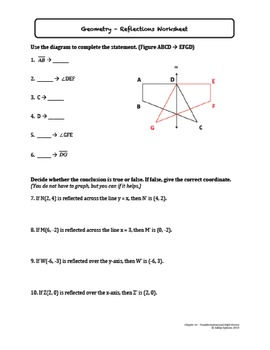 Transformations and Rigid Motion Worksheet Bundle