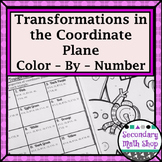 Transformations in the Coordiante Plane Color-By-Number Wintery Worksheet