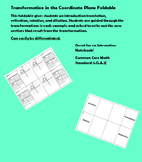 Transformations in the Coordinate Plane Foldable
