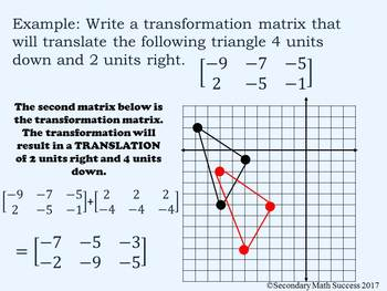 Transformations in the Coordinate Plane with Matrices